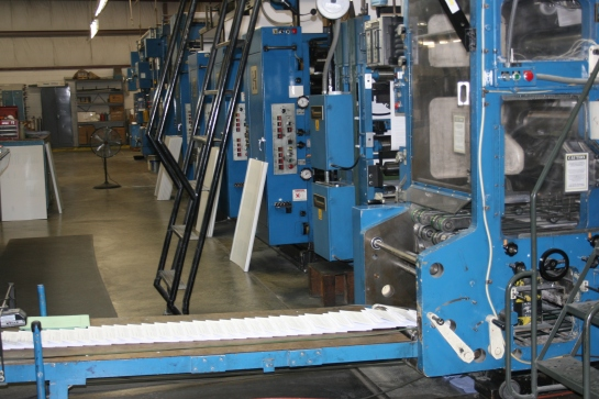 An offset press at our St. Louis facility.