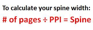 spine width
