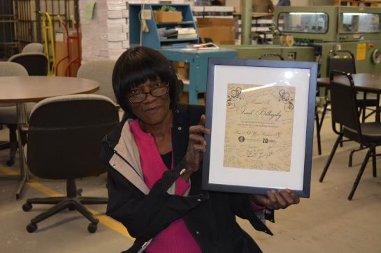 Over her 45 year career, Sarah has literally touched millions of books!