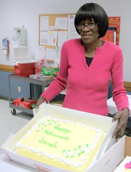Sarah with cake